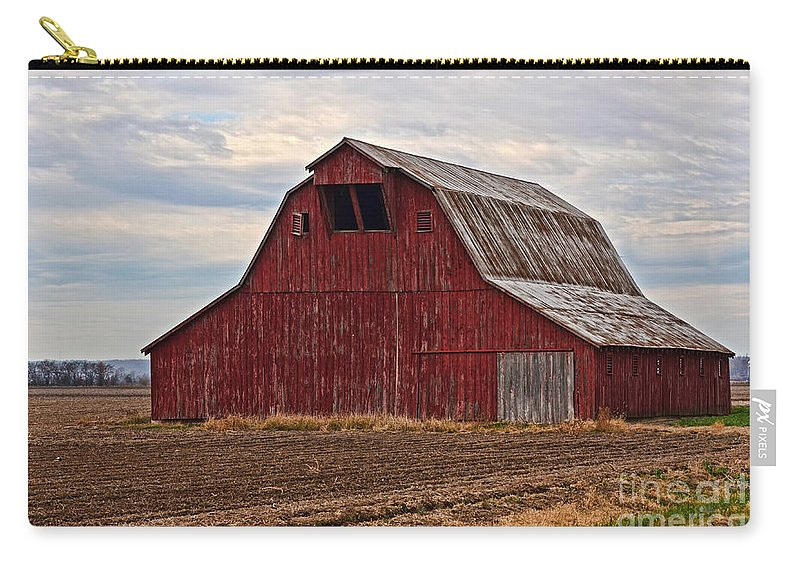 Arcitecture Carry-all Pouch featuring the photograph Red Barn by Debbie Portwood
