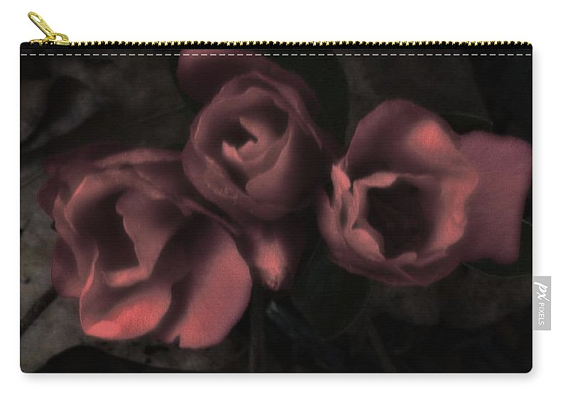 Flower Carry-all Pouch featuring the photograph Red Bloom by John Feiser