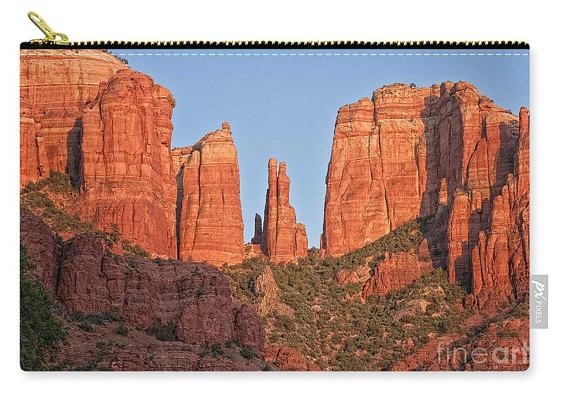 Arizona Carry-all Pouch featuring the photograph Red Rocks by Claudia Kuhn