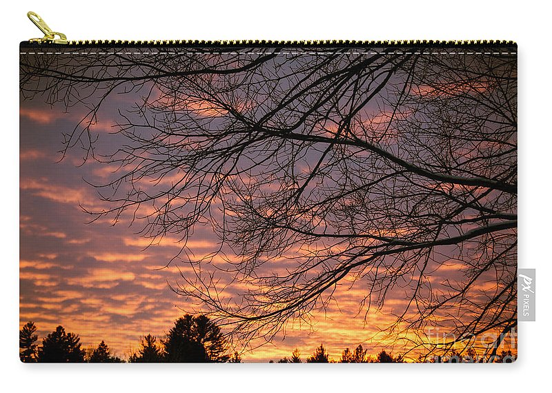 Carry-all Pouch featuring the photograph Red Sky At Night by Cheryl Baxter