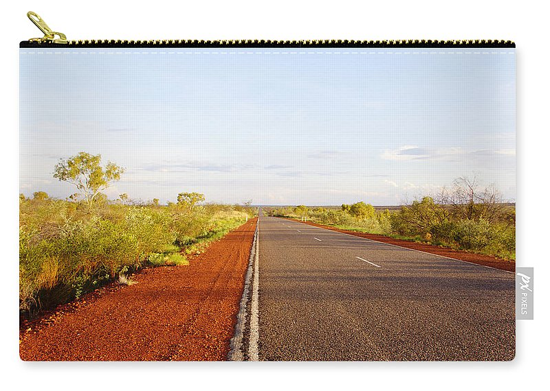 Central Australia Road Carry-all Pouch featuring the photograph Red Soil by Douglas Barnard