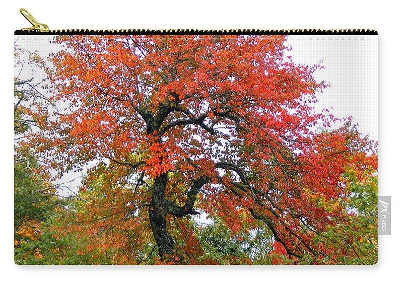 Plants Carry-all Pouch featuring the photograph Red Tree by Duane McCullough