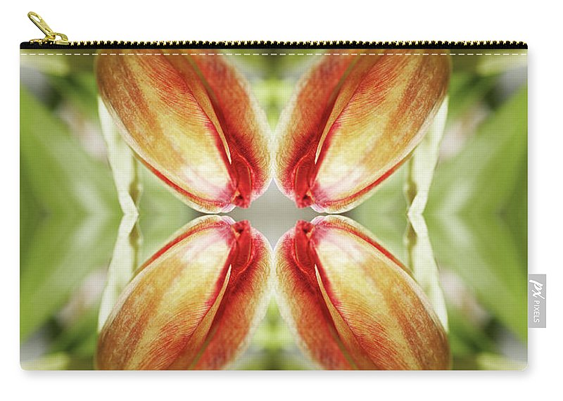 Tranquility Carry-all Pouch featuring the photograph Red Tulip by Silvia Otte