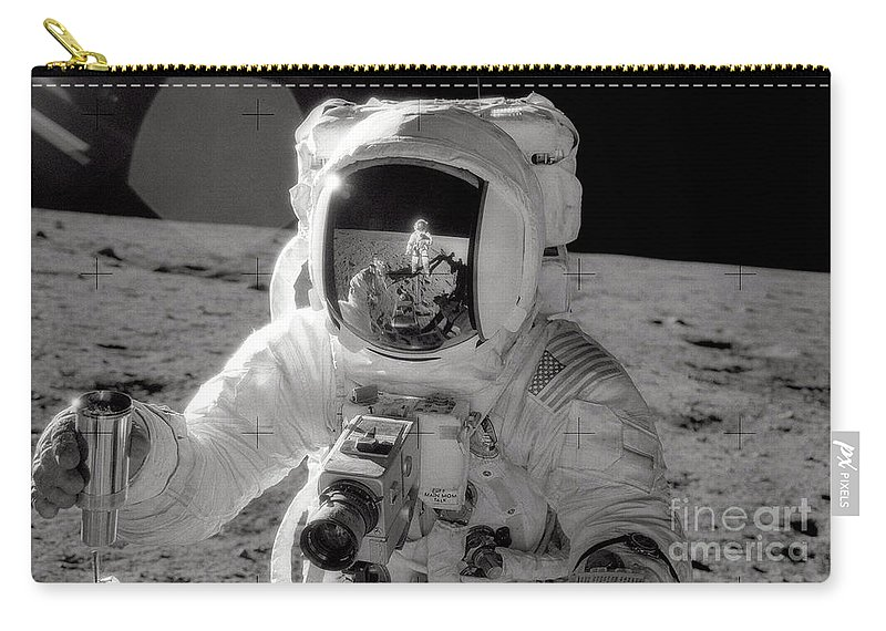 Moon Carry-all Pouch featuring the photograph Reflecting by Jon Neidert