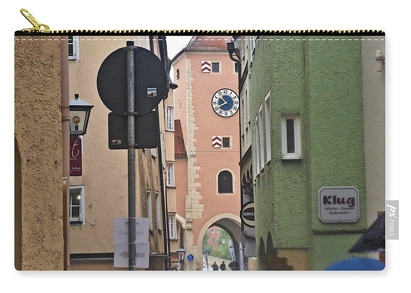 Regensburg Carry-all Pouch featuring the photograph Regensburg Germany by Howard Stapleton