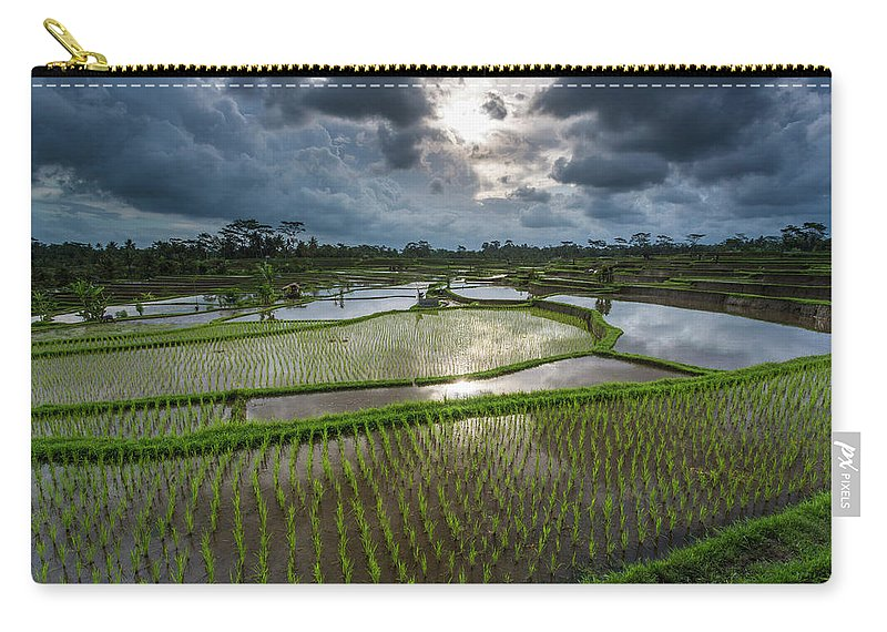 Tranquility Carry-all Pouch featuring the photograph Rice Terraces In Central Bali Indonesia by Gavriel Jecan
