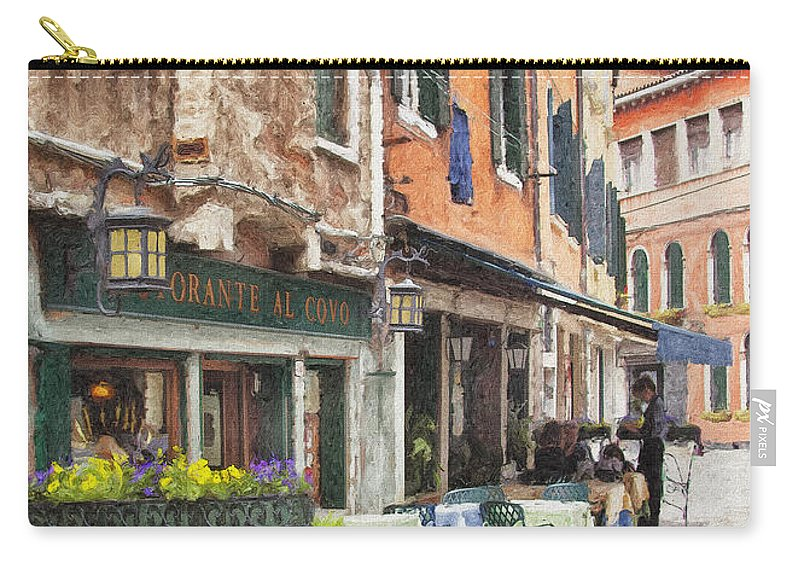 Building Carry-all Pouch featuring the photograph Ristorante Al Covo Impasto by Sharon Foster
