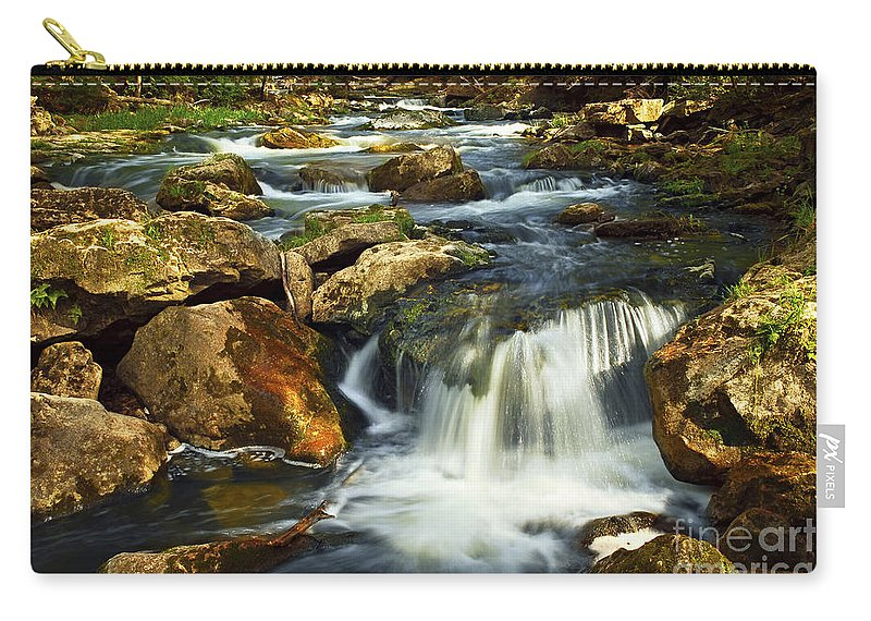 Waterfall Carry-all Pouch featuring the photograph River Rapids by Elena Elisseeva