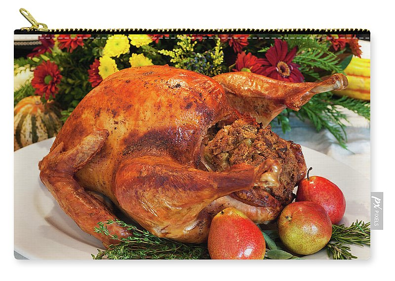 Stuffed Carry-all Pouch featuring the photograph Roast Turkey by Tetra Images