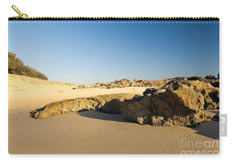 Beach Carry-all Pouch featuring the photograph Rocky Beach by Tim Hester