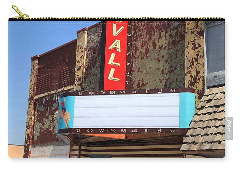 66 Carry-all Pouch featuring the photograph Route 66 - Stovall Theater by Frank Romeo