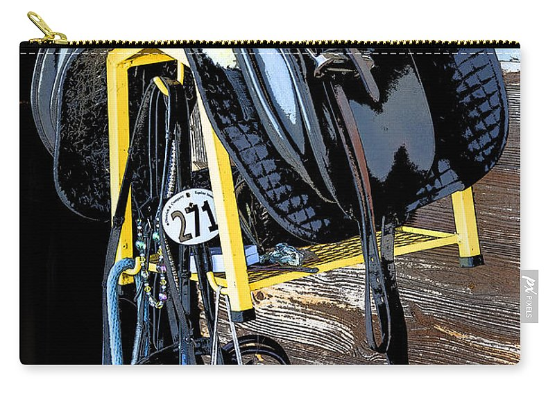 Rocking Horse Stables Carry-all Pouch featuring the photograph Saddle Up by Rich Franco