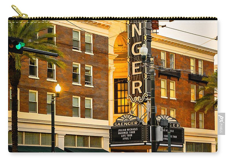 Steve Harrington Carry-all Pouch featuring the photograph Saenger Theatre New Orleans Paint 2 by Steve Harrington