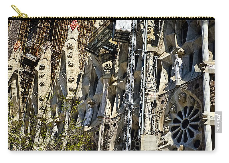 Sagrada Familia Carry-all Pouch featuring the photograph Sagrada Familia - Barcelona Spain by Jon Berghoff