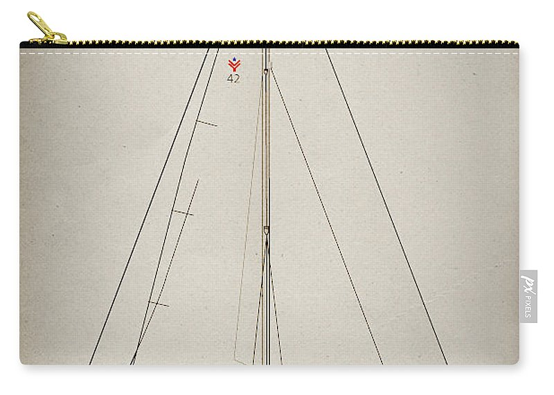 Regina Gallant Carry-all Pouch featuring the drawing Sailboat 42 by Regina Marie Gallant