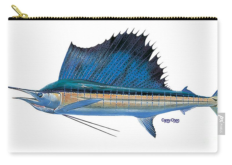 Sailfish Carry-all Pouch featuring the painting Sailfish by Carey Chen