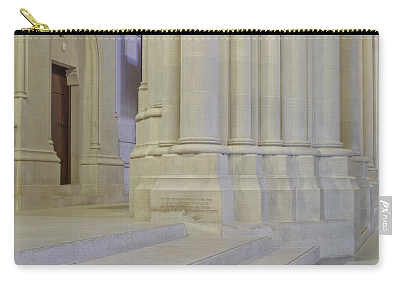 Altar Carry-all Pouch featuring the photograph Saint John The Divine Cathedral Columns by Susan Candelario
