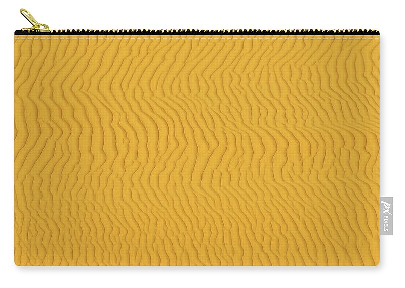 Sand Dune Carry-all Pouch featuring the photograph Sand Dune Patterns by Raimund Linke
