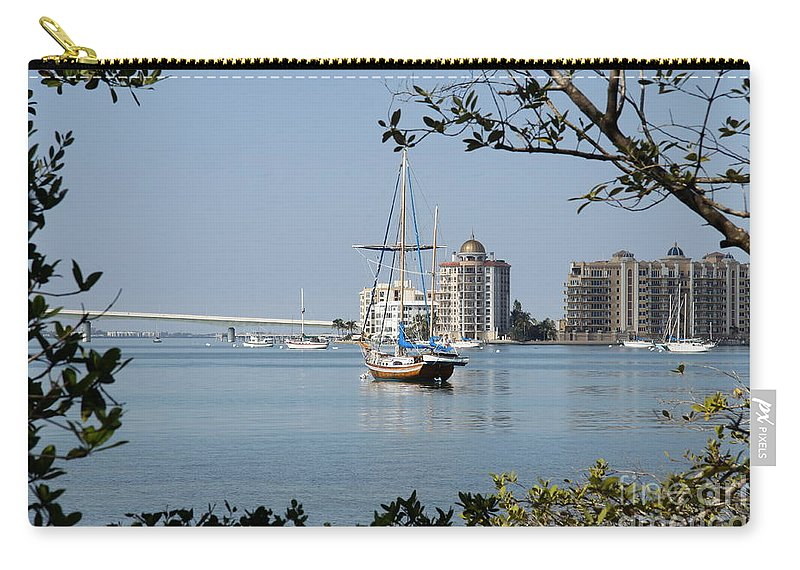 Sarasota Carry-all Pouch featuring the photograph Sarasota Bay by Christiane Schulze Art And Photography
