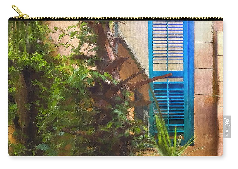 Window Carry-all Pouch featuring the photograph Savannah Window Impasto by Sharon Foster