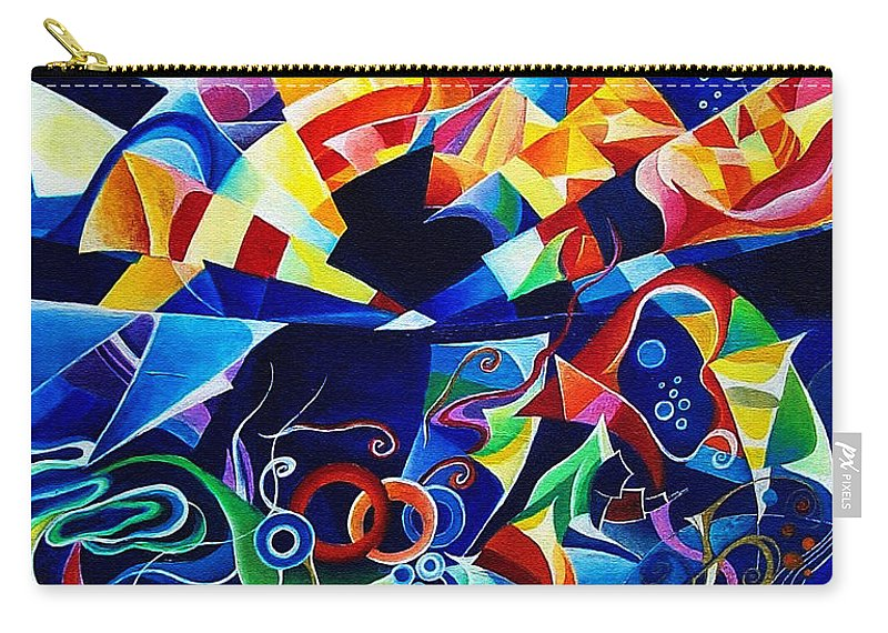 Alexander Scriabin Piano Sonata No.10 Acrylic Abstract Music Carry-all Pouch featuring the painting Scriabin by Wolfgang Schweizer