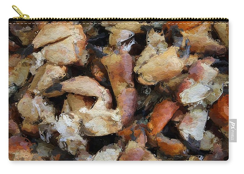 Seafood Crawfish Crayfish Crab Abstract Carry-all Pouch featuring the painting Seafood by Steve K