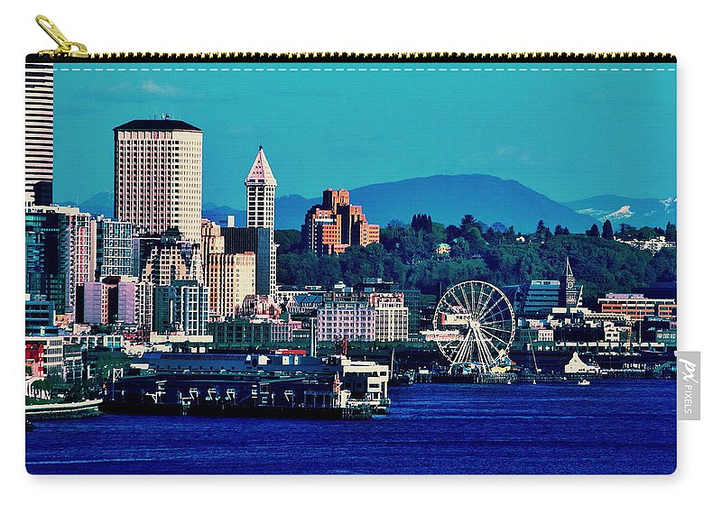 Seattle Carry-all Pouch featuring the photograph Seattle Waterfront by Benjamin Yeager