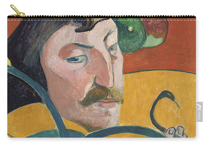 Art Carry-all Pouch featuring the painting Self Portrait by Mountain Dreams