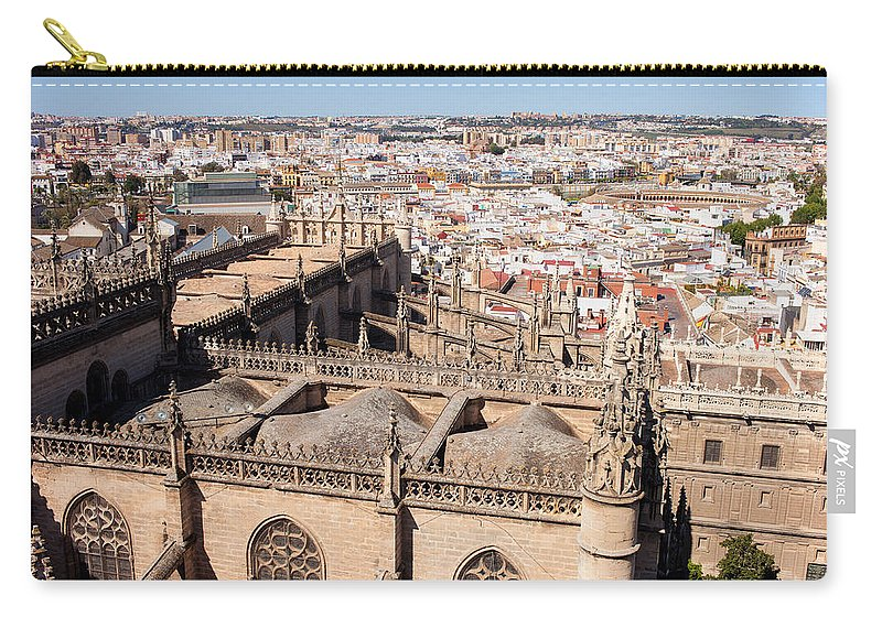 Seville Carry-all Pouch featuring the photograph Seville Cityscape by Artur Bogacki