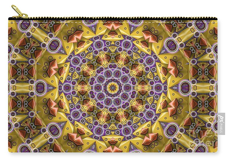 Kaleidosope Carry-all Pouch featuring the digital art Kaleidoscope 43 by Ron Bissett