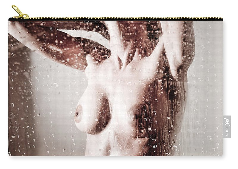 Wet Carry-all Pouch featuring the photograph Shower by Jt PhotoDesign