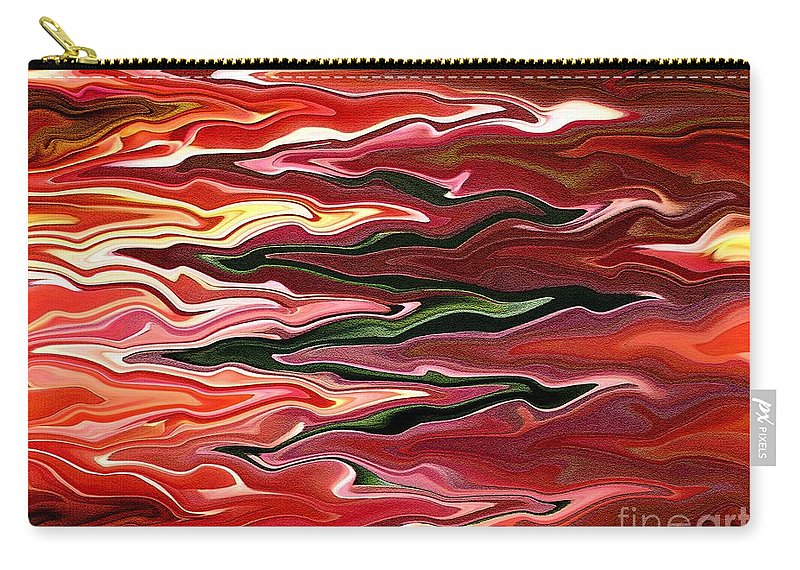 Showpiece Waves Carry-all Pouch featuring the painting Showpiece Waves by J McCombie