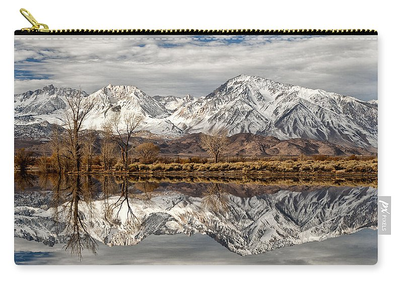 Water Carry-all Pouch featuring the photograph Sierra Reflections by Cat Connor