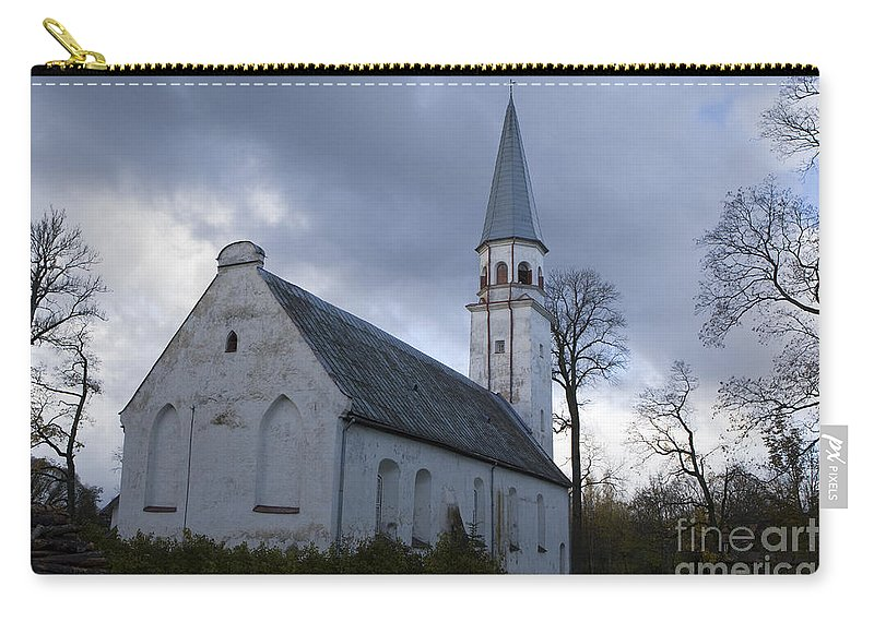 Travel Carry-all Pouch featuring the photograph Sigulda Church by Jason O Watson