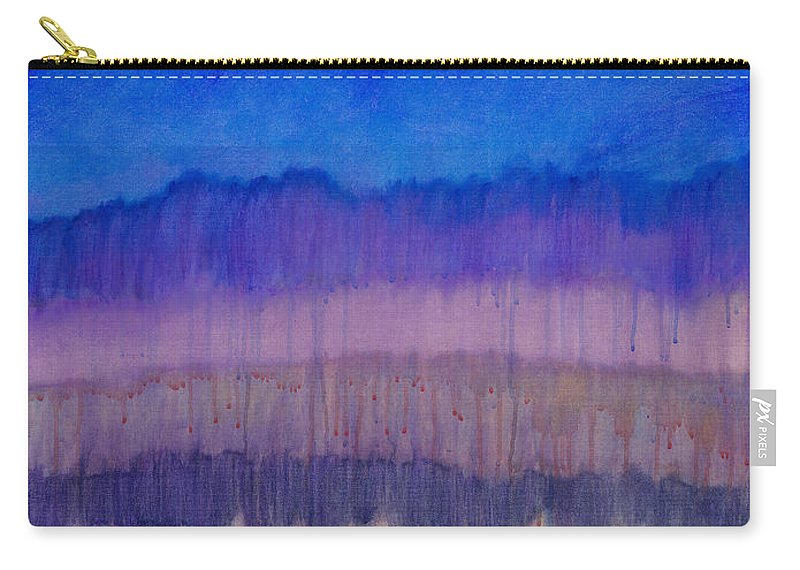 Colorchrome Scans Carry-all Pouch featuring the painting Silent Night by Jerome Lawrence