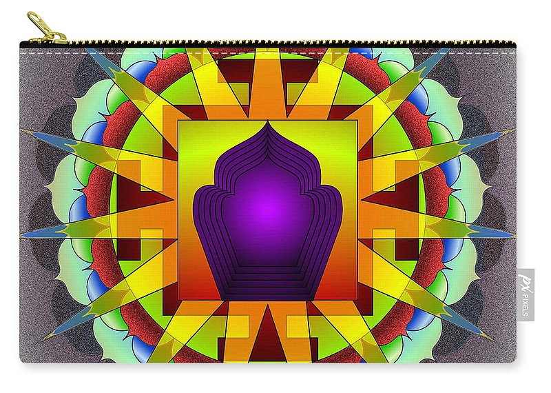 Mandala Art Carry-all Pouch featuring the digital art Simplicity by Mario Carini