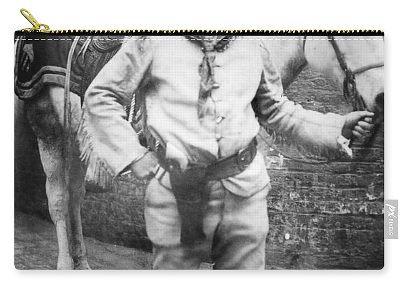 1910 Carry-all Pouch featuring the photograph Sir Genille Cave Brown Cave (1869-1929) by Granger