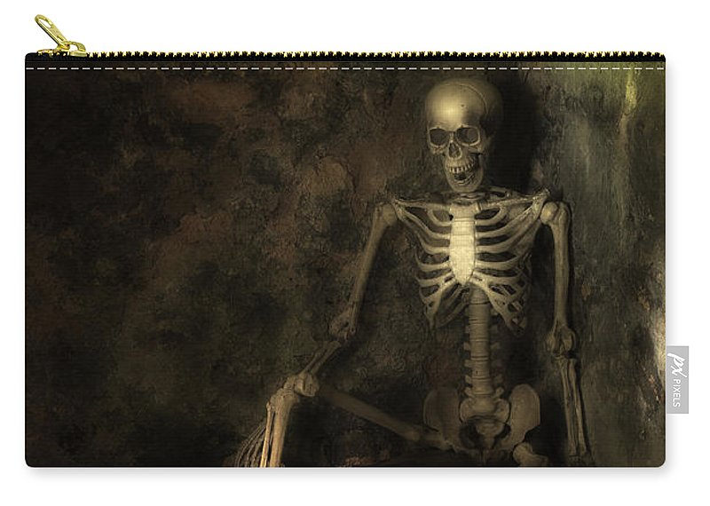 Skeleton Carry-all Pouch featuring the photograph Skeleton by Amanda Elwell