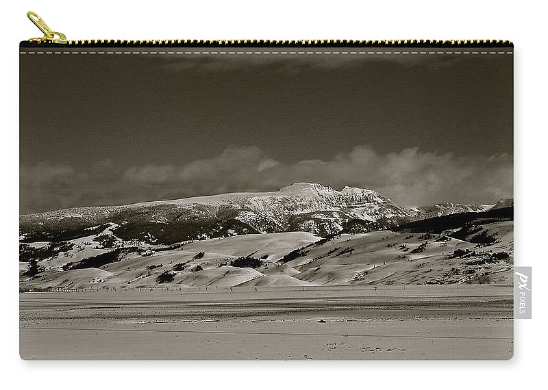 Grand Teton National Park Carry-all Pouch featuring the photograph Sleeping Indian by Eric Tressler