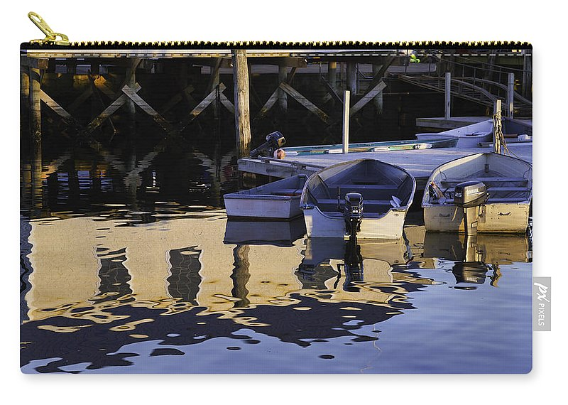 Maine Carry-all Pouch featuring the photograph Small Boats And Dock In Port Clyde Maine by Keith Webber Jr