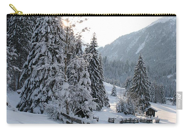 Snow Carry-all Pouch featuring the photograph Snowy Trees by Christiane Schulze Art And Photography