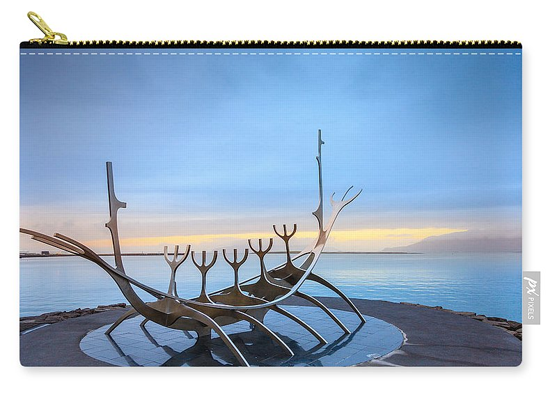 Europe Carry-all Pouch featuring the photograph Solfar Sun Voyager by Alexey Stiop