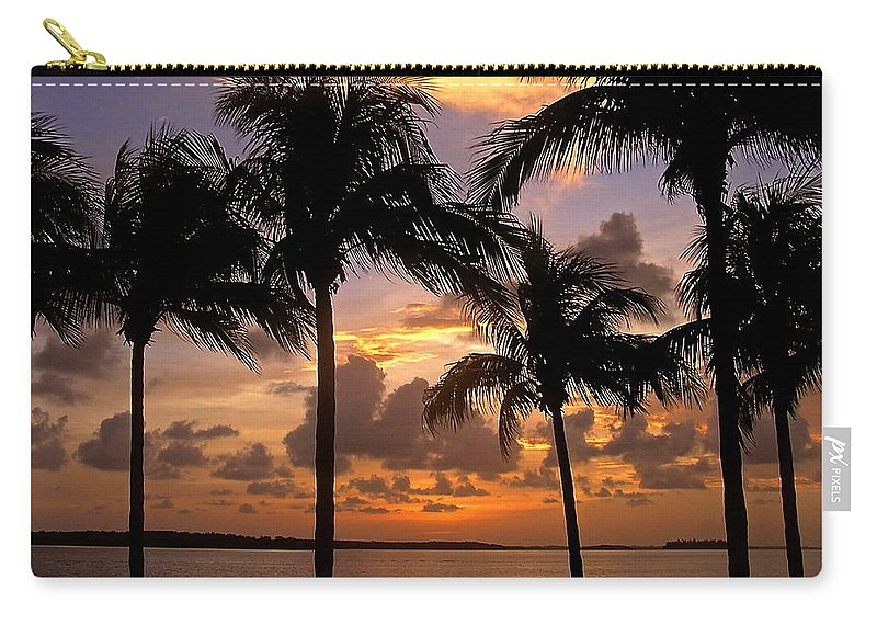 Florida Carry-all Pouch featuring the photograph South Florida Sunset by Carol Bradley