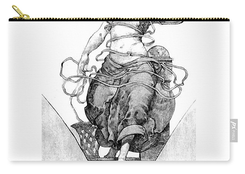 Telephone Carry-all Pouch featuring the digital art Spirit Of Progress by John Madison