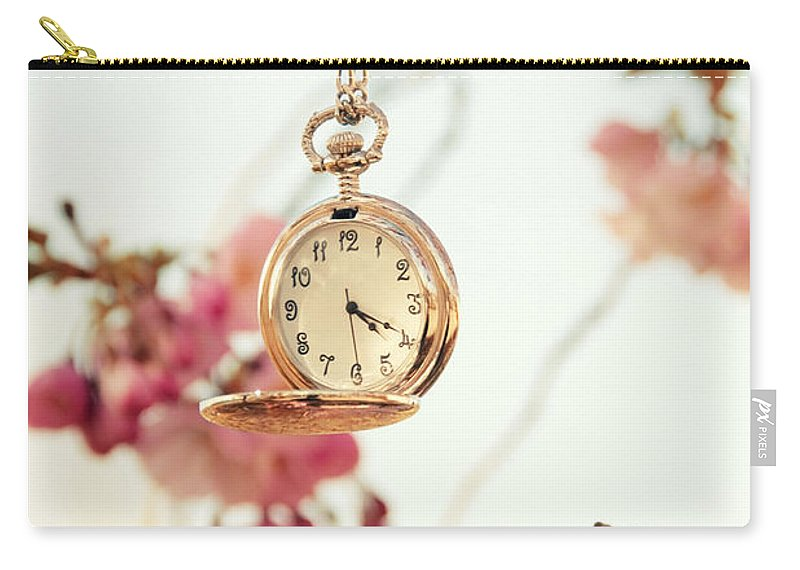 Uhr Carry-all Pouch featuring the pyrography Springtime by Steffen Gierok