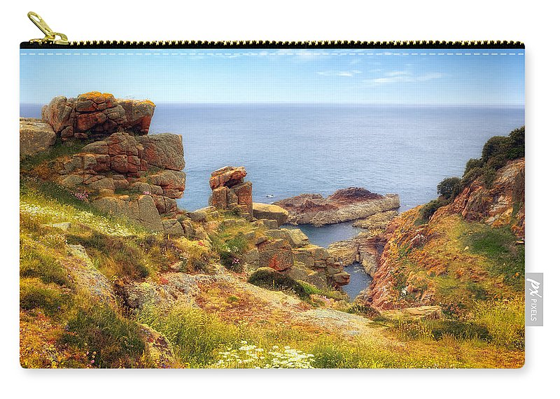 Portelet Common Carry-all Pouch featuring the photograph St Brelade - Jersey by Joana Kruse