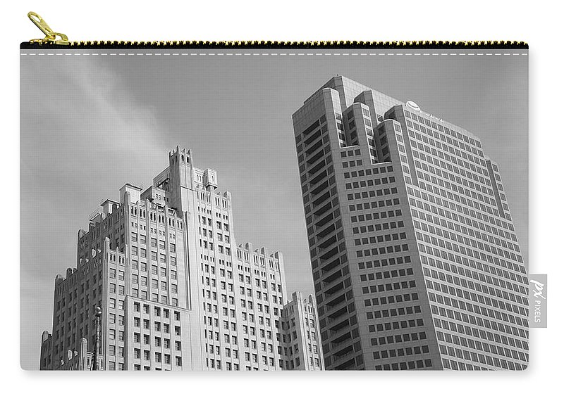 America Carry-all Pouch featuring the photograph St. Louis Skyscrapers by Frank Romeo