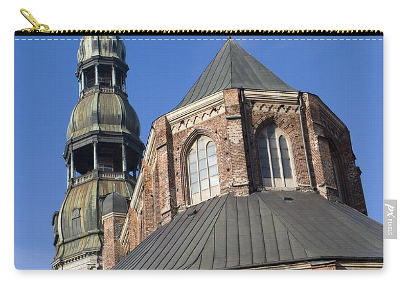 Travel Carry-all Pouch featuring the photograph St. Peter's Church Riga by Jason O Watson