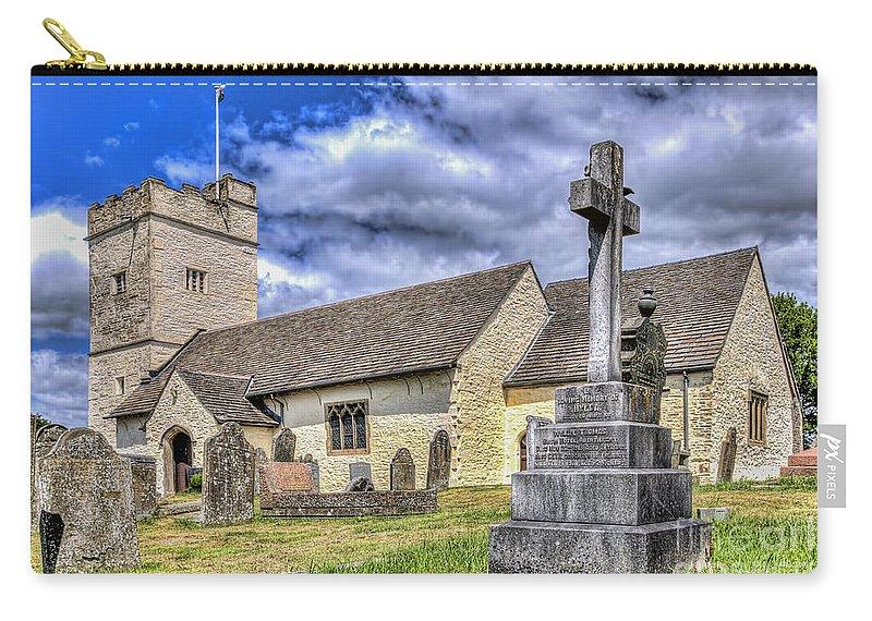 St Sannans Church Carry-all Pouch featuring the photograph St Sannans Church Bedwellty 2 by Steve Purnell