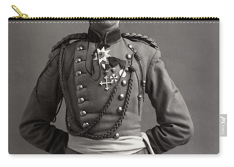 1890 Carry-all Pouch featuring the photograph Stage German Officer by Granger